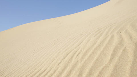 Desert Under Blue Sky stock footage