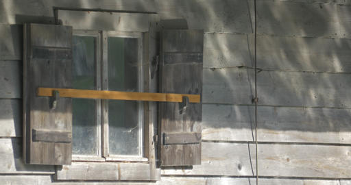 4K, Caustics On Wooden Hut Footage