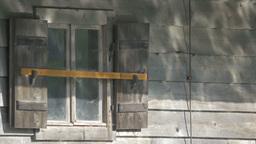 Caustics On Wooden Hut stock footage