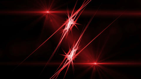 Red Fibers in Motion, Rays of Fiery Light Animation