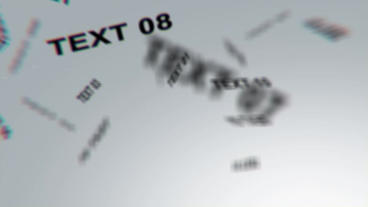 Floating Text stock footage