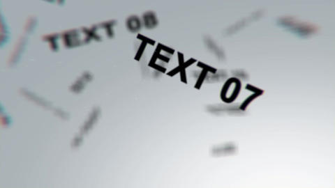 Floating Text After Effects Template