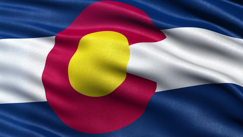 4K Colorado state flag seamless loop Ultra-HD Animation
