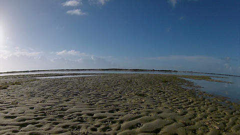 Pan Timelapse Ria Formosa Seascape Fuseta B Footage