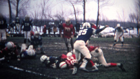 (8mm Vintage) Muddy Football Game Footage