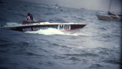 (Super 8 Vintage) Speed Boat Racing Competition Footage