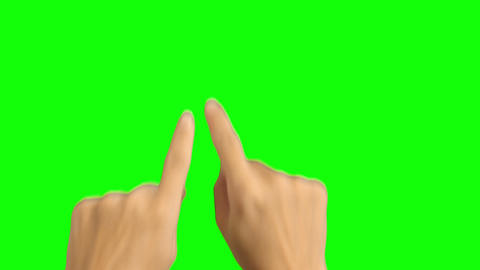 Woman Hand Multi Touch Touchscreen with Green Screen Footage