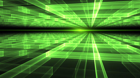 Rays Of Light, Green Geometrical Horizon stock footage