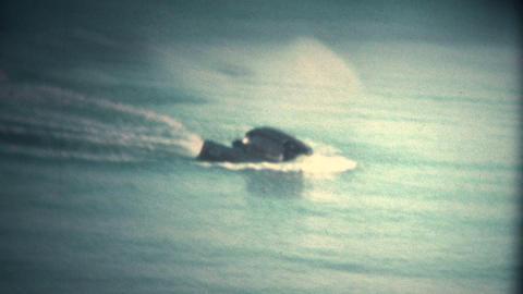 (Super 8 Vintage) Jetski Driver Falls Off Footage