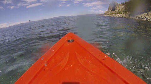 Kayak POV Adventure, Wet Lens Footage