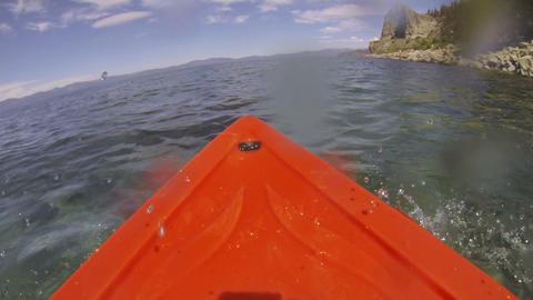 Kayak POV Adventure, Wet Lens Footage