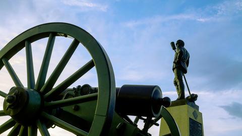 Gettysburg Civil War Statue Time-lapse Footage
