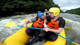White water rafting safe position Live Action