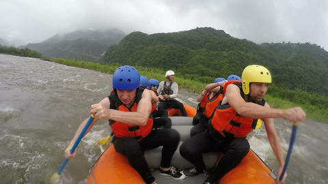 White water rafting HD Footage