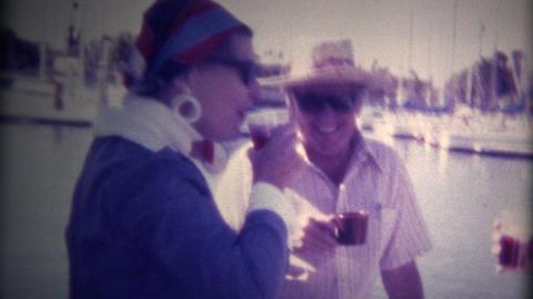 (Super 8 Film) Rich People on Fancy Yacht 1976 Footage
