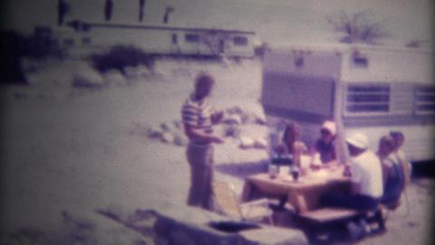 (Super 8 Film) Desert Trailer Camping 1975 Footage