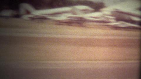 (Super 8 Film) Airplane Takeoff Window 1970 Footage