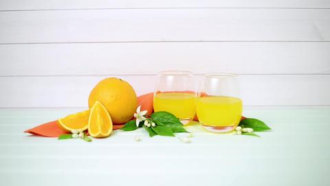 Freshly squeezed orange juice Footage