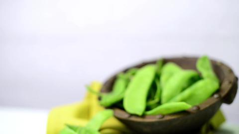 Broad beans of peas Footage
