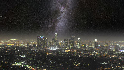 Meet The Milky Way In LA Zoom Out HD stock footage