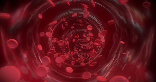4K Red blood cells Animation