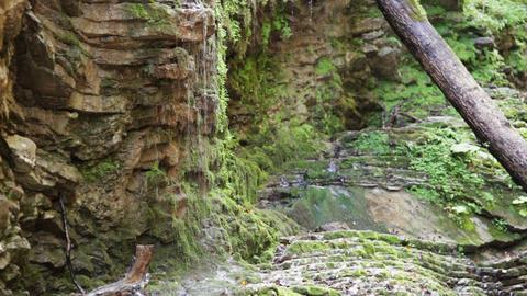 Waterfall Rufabgo In North Caucasus Russia stock footage