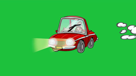 Exploding Cartoon Car: +Matte stock footage