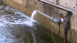 Harbor water aeration system Footage