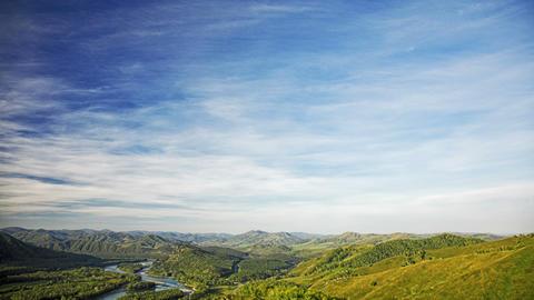Summer mountain landscape Footage