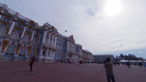 Catherine Palace. Pushkin. Catherine Park. Tsarskoye Selo Footage