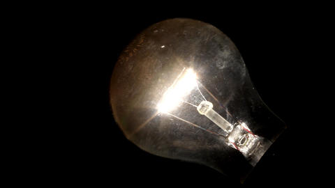 Glowing light bulb Footage