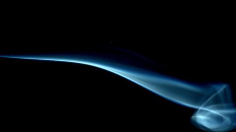 Blue smoke on black Footage