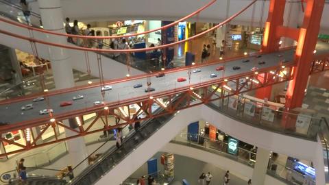 Terminal 21 Escalator 04 stock footage