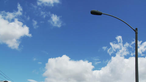 Cloudy Streetlamp Time-lapse Footage