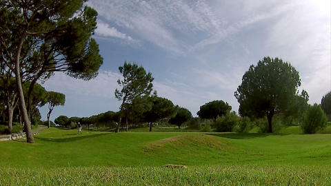 Algarve Golf Tee Shot D Time Lapse stock footage