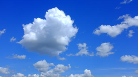 Clouds Floating Over The Field stock footage
