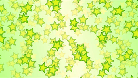 Falling Stars Animation - Loop Green Animation