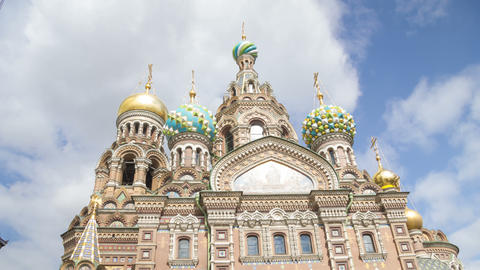 Church of the Savior on Blood day motion timelapse 4K Footage