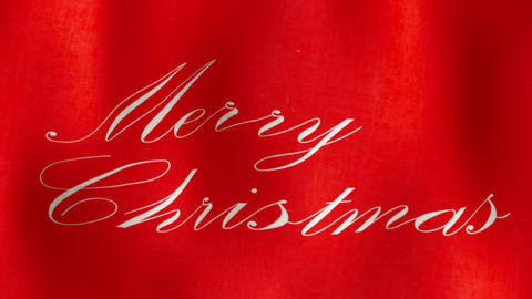 Merry Christmas Flag Loopable stock footage
