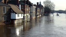 River Ouse Floods 09 12 01 stock footage