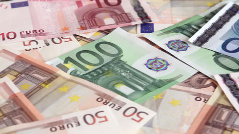 Euro Money Background stock footage