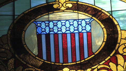 Courthouse Stain Glass and Decor Footage
