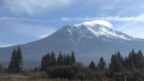Mount Shasta Stock Video Footage