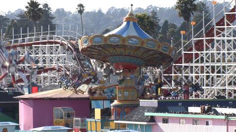 Amusement Park Rides Stock Video Footage