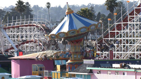 Amusement Park Rides Footage