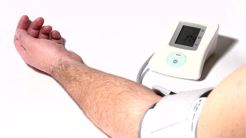 Checking Blood Pressure 02 Stock Video Footage