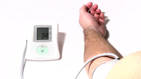 Checking Blood Pressure 04 Stock Video Footage