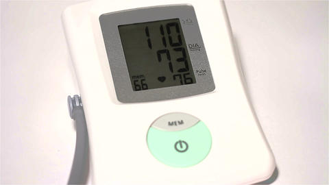 Checking Blood Pressure 10 closeup Stock Video Footage