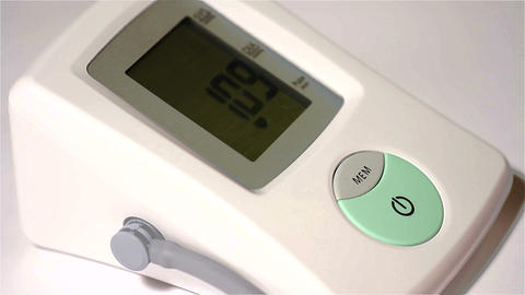 Checking Blood Pressure 12 closeup Stock Video Footage