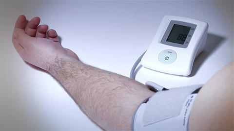 Checking Blood Pressure 16 stylized Stock Video Footage